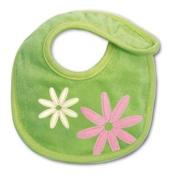 Baby Boum Newborn Triple-Lined Waterproof Bib with Velcro Fasten and Appliqud Petal Design