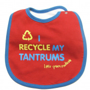 Little Green Radicals Organic Fairtrade Cotton I Recycle My Tantrums Bib