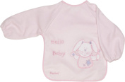 Playshoes 37 X 30cm Long Sleeve Baby Bib with Rabbit on the Back Foil Underlay