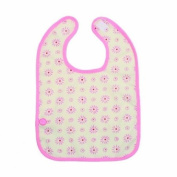 Baby Boum Triple Lined Small Cotty hook and loop Bib 37cm - Pink