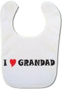 Baby bib with I love Grandad
