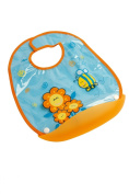 dBb-Remond 222057 Bib with Crumb Catcher 34 cm x 28.5 cm Flower Motif