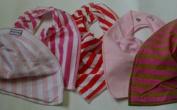 Premier Baby Bandana Bibs GIRLS (mixed colours) x 5 PACK