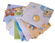 Baby mini Flannel Sheets 40/35 cm -10 Pack for a Boy