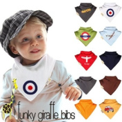 The British Baby Set of Bandana Bibs from Funky Giraffe