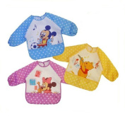 BABY/TODDLER BOY GIRL LONG SLEEVE WATERPROOF BIB APRON DISNEY WINNIE THE POOH, MICKEY MOUSE, MINNE MOUSE