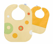 Mod Dots Citrus Toddler Leather Bib