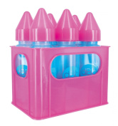 dBb Remond 177348 Crate and 6 Silicone Teat Polypropylene feeding Bottles Translucent Pink 240 ml