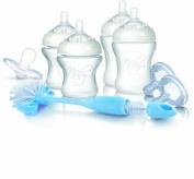 Nuby SoftFlex NTNV3-67424 Baby Set with 2 x 150 ml Bottles / 2 x 240 ml Bottles / 4 x Low Flow Rate Teats / 2 x High Flow Rate Teats / 1 x Orthodontic Dummy / 1 x Bottle Brush