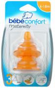 Bebeconfort 30000296 2 Natural Rubber Teats Size 3 6-18 Months