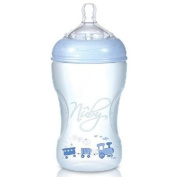 Nuby Natural Touch NT68009 SoftFlex Polypropylene Feeding Bottle 300 ml Blue