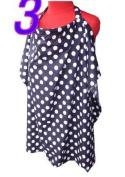 Palm and Pond Breastfeeding Cover - Navy Blue & White Spots Standard