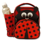 Smash Kids Large School Nursery Lunch Bag Water Bottle LADYBIRD