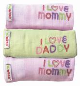 Minene I Love Mummy / I Love Daddy Muslins