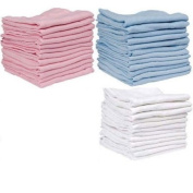 Pink Muslin Squares VALUE PACK x12