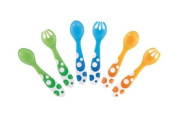 Munchkin 011454 Multi-Coloured Forks and Spoons Set of 6