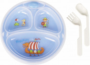 Playshoes Food Warmer Stay Warm Plate Bowl and Cutlery Set with Suction Base for Babies