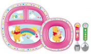 Disney Baby Toddler Dining Set Winnie the Pooh Pink