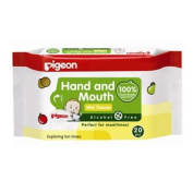Pigeon Hand and Mouth Wet Tissues, Alcohol Free, Perfect for Meal Time 20 Pieces