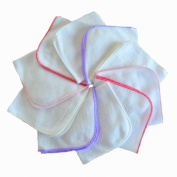 10 x Super Soft Flannel Wipes - Washing cloths 25/25 - GIRLY