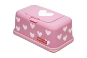 FunkyBox Easy Wipe Dispenser Box Pink white Hearts