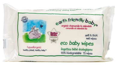 Earth Friendly Baby Eco Baby 864 Wipes - 12 x Pack of 72 Wipes(864 Wipes)