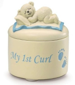 Adorable blue my 1st curl pot by Russ Berrie