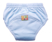 Bright Bots Washable Potty Training Pants with PUL Lining Pale Blue size Small