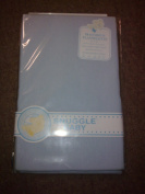 100% COTTON FLANNELETTE SHEETS (2) BLUE FIT CRIB / CRADLE