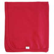 Tuppence and Crumble Organic Cotton Baby Shawl Blanket Cranberry