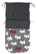 New Design Buggysnuggle - Textured Scottie Dog Charcoal