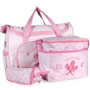 4 PCS Brand New Baby Diaper Nappy Changing Bag PINK