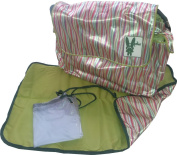 Fully Padded HOPSTAR Designer Baby infant Changing Bag and Mat. A high quality travel nappy system with multiple pockets, a changing mat, a seperate messy bag. It's even got two insulated bottle holders to keep babys milk nice and warm. A great gift / ..