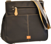 PacaPod Oban Black Designer Baby Changing Bag - Luxury Black Messenger 3 in 1 Organising System With Convertible BackPack Straps