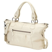 OiOi Nappa Leather Slouch Tote Changing Bag Ivory
