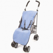 Genesis Universal Pale Blue Soft Fleece Footmuff Cosytoes & Buggy Liner