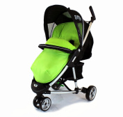 Deluxe Universal Footmuff to fit Petite Star Zia 3 Wheeler - Lime