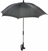 Reer Logo Sonnenschirm mit UV-Schutz 50+, schwarz