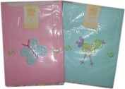 Lollipop Lane Soft Fleece Pram / Crib Blanket Choice Pink or Blue 70x90cm