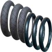 A Set of Tyres and Tubes Suitable for Phil & Teds Dot Pushchairs