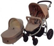 X-Adventure : City Traveller Pram Pushachair carry cot combination in Sand