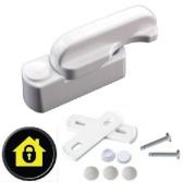 Sash Jammers - Extra Security Locks for uPVC Window & Doors - White