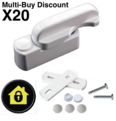 X20 (Multi-Buy Deal) Sash Jammers - Extra Security Locks for uPVC Window & Doors - White