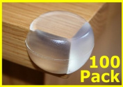 100X Round Soft Corner Protectors Baby & Child Furniture Protection