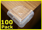 100X Square Soft Corner Protectors Baby & Child Furniture Protection
