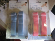 Child wrist links pack of two blue or pink.