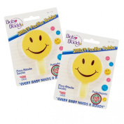 Baby Buddy Smiley Pacifier Holder 2ct for 0-36 Months