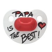 bibi silicone night-time BPA FREE soother, cherry shape, Mama/Papa classic, 6 months