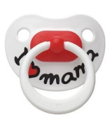 bibi silicone day-time BPA FREE soother, dental shape, Mama/Papa classic, 12 months