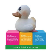 Hevea Natural Rubber 3 in 1 Playing Teething Bathing Duck Toy KAWAN